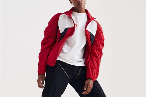 Panelled Ruched Track Jacket