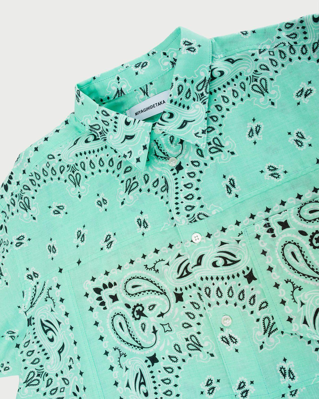 Miyagihidetaka — Bandana Shirt Mint - Image 5