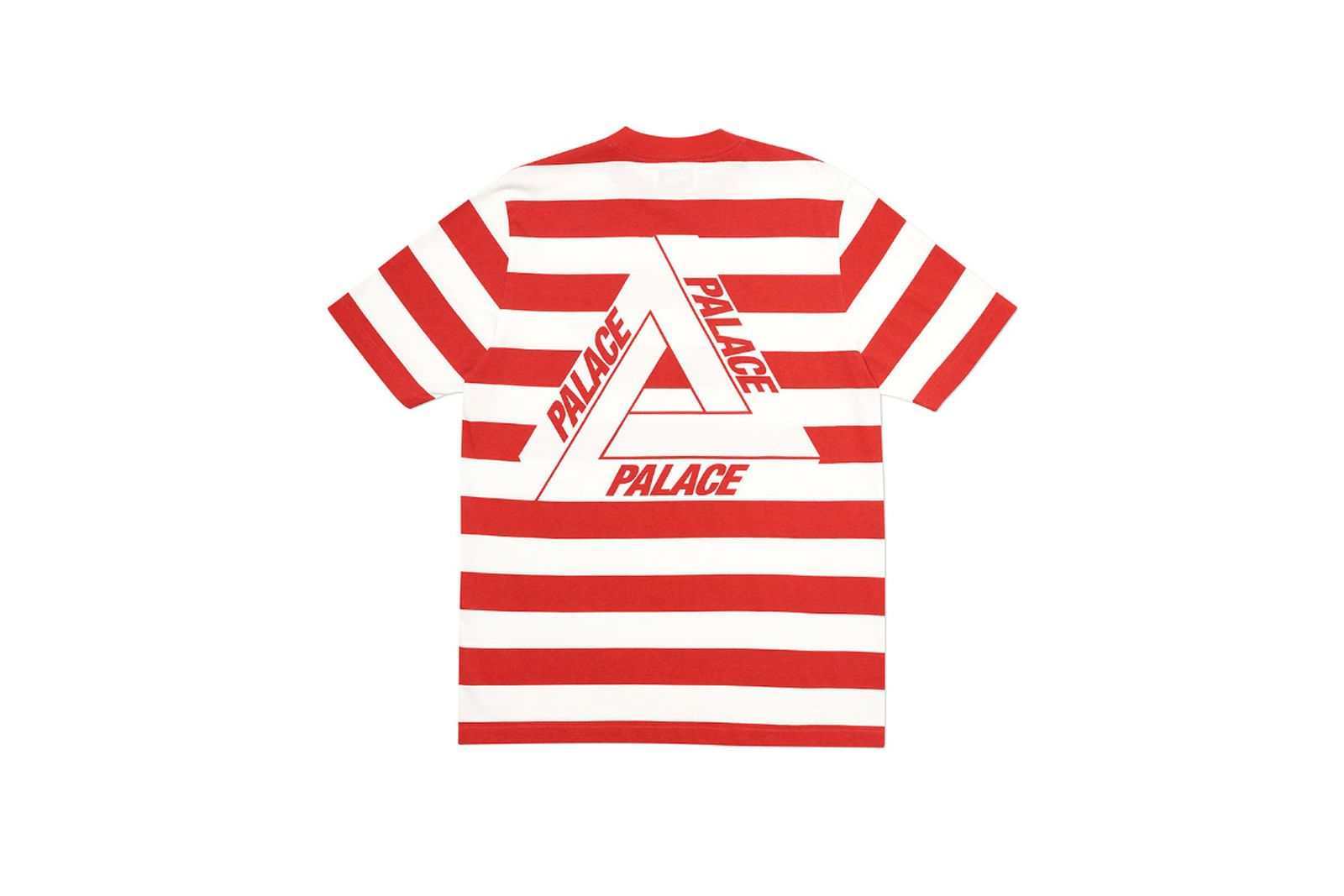 Palace 2019 Autumn T Shirt Heavy Stripe red back