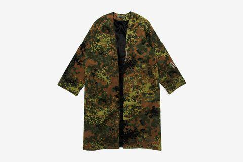 Camo Cotton Long Robe