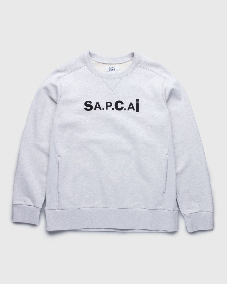 A.P.C. x Sacai — Tani Sweater Light Grey