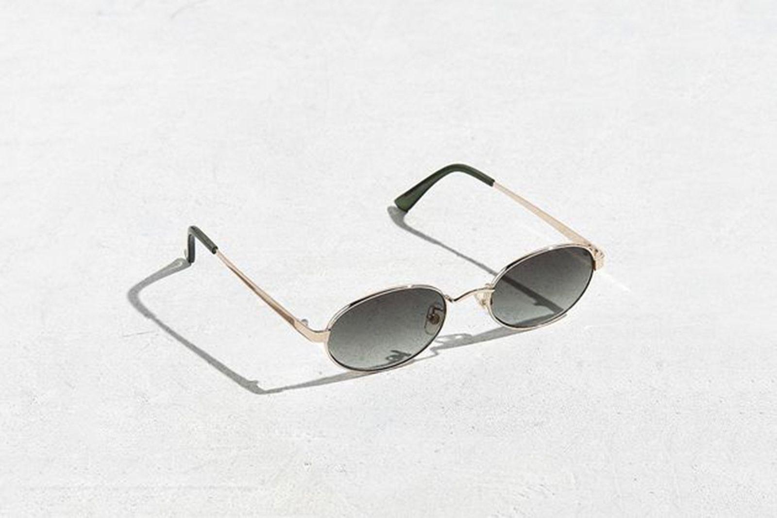 Flat Lens Metal Oval Sunglasses