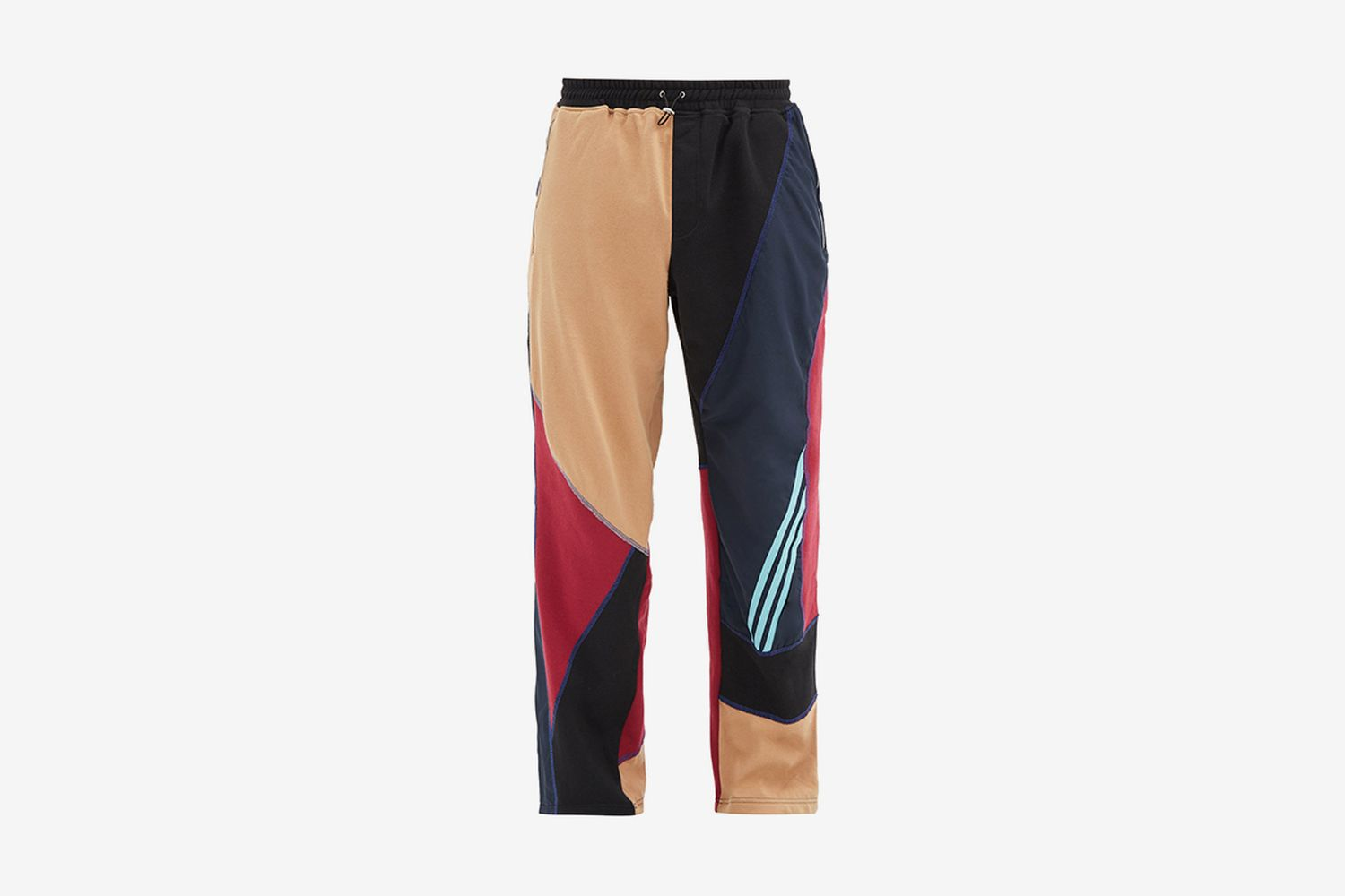 Patchwork Upcycled Jersey Track Pants