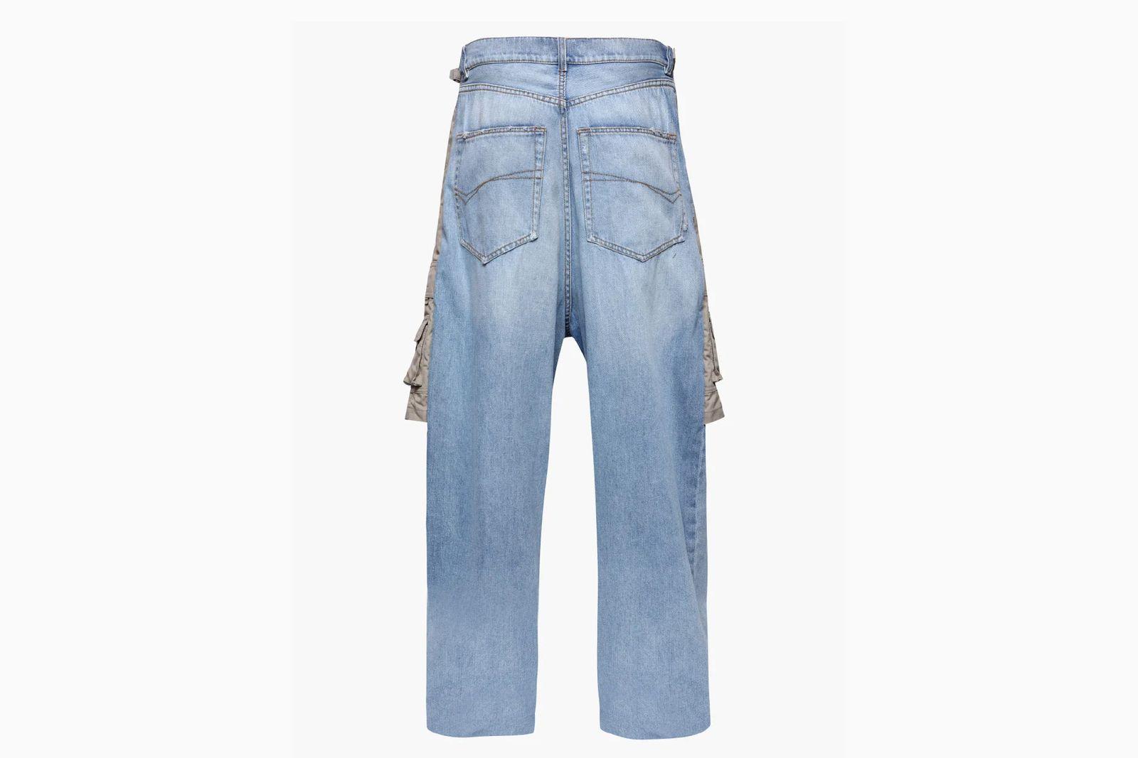 Balenciaga jean cargo shorts back