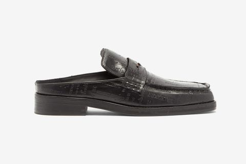 London-Embossed Penny Loafers