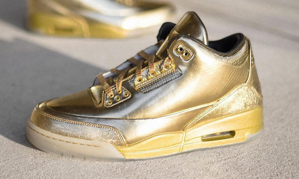 Usher's All-Gold 3s Are Some of the Rarest Jordans Ever