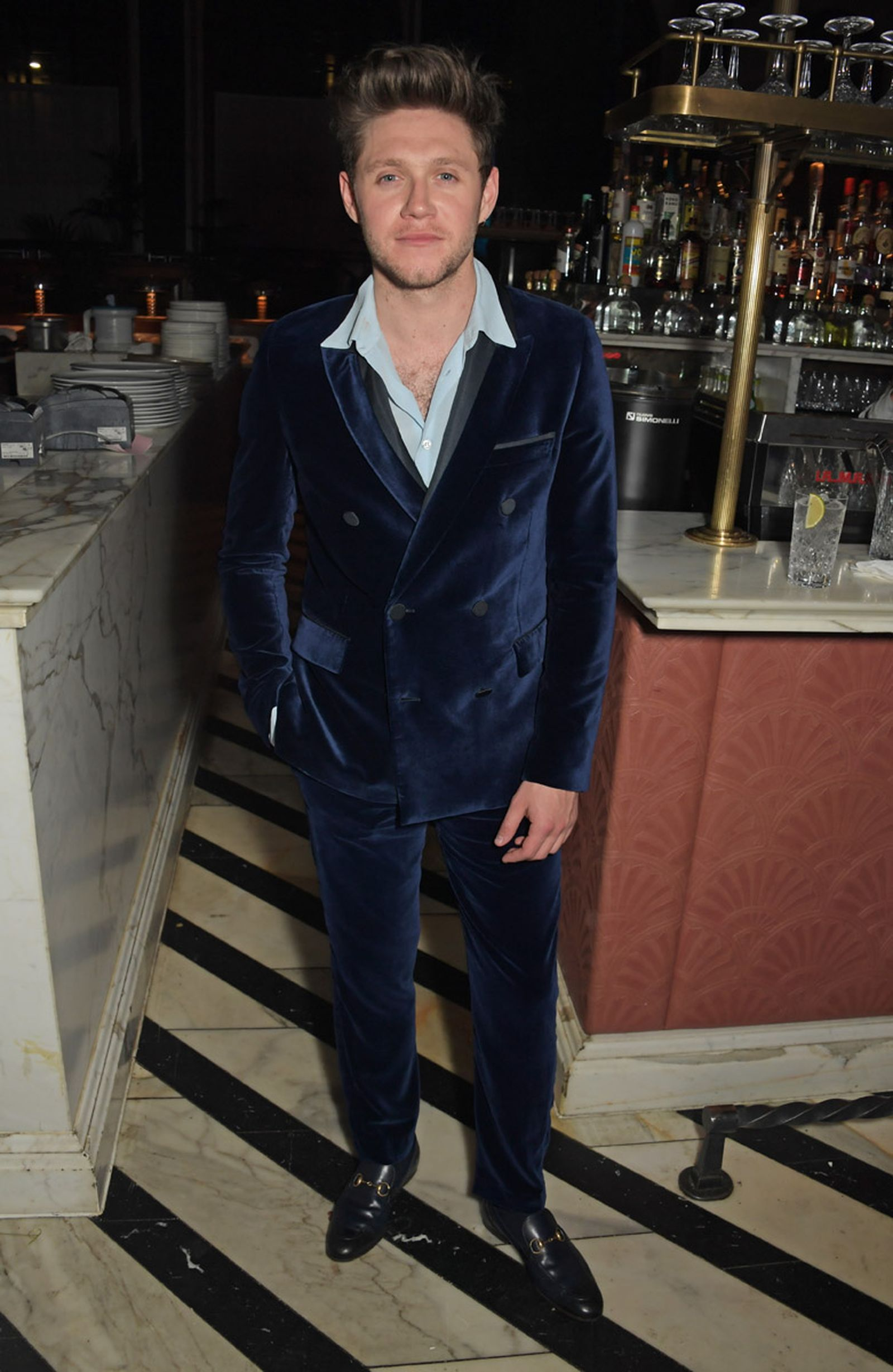 LONDON, ENGLAND - FEBRUARY 18:   Niall Horan attends the Universal Music BRIT Awards after-party 2020 hosted by Soho House & PATRON at The Ned on February 18, 2020 in London, England.  (Photo by David M. Benett/Dave Benett/Getty Images for Universal Music & Soho House)