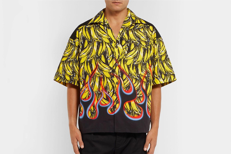Bananas & Flames Boxy Shirt