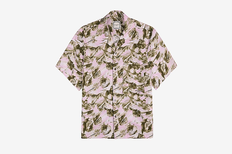 Printed Stretch-Poplin Shirt