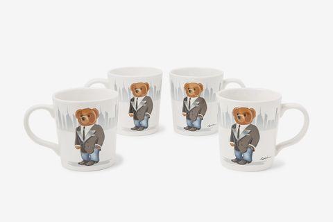 Haven Set of Four Printed Stoneware Mugs