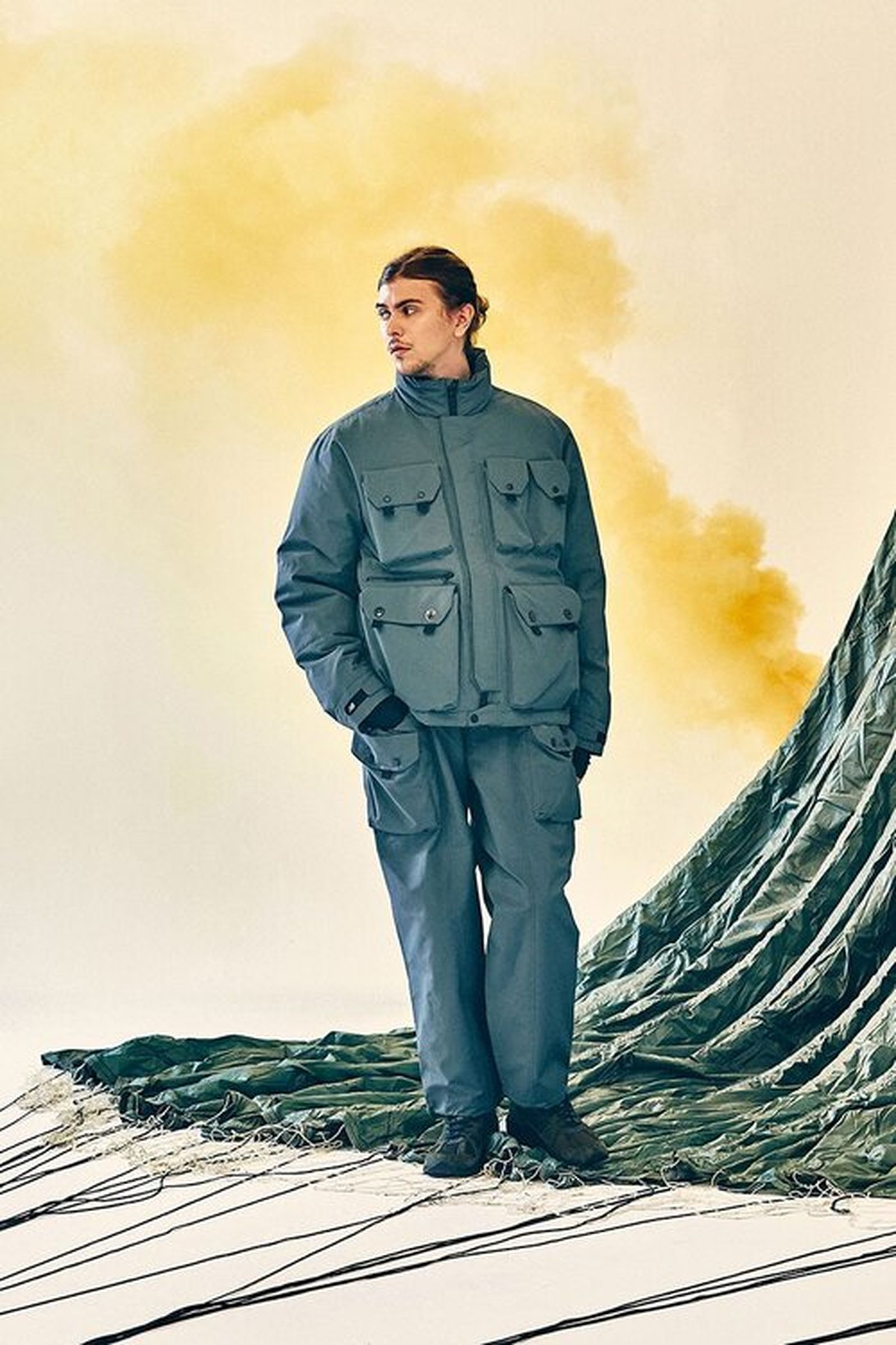New Balance Eastlogue Rigger Made gray jacket