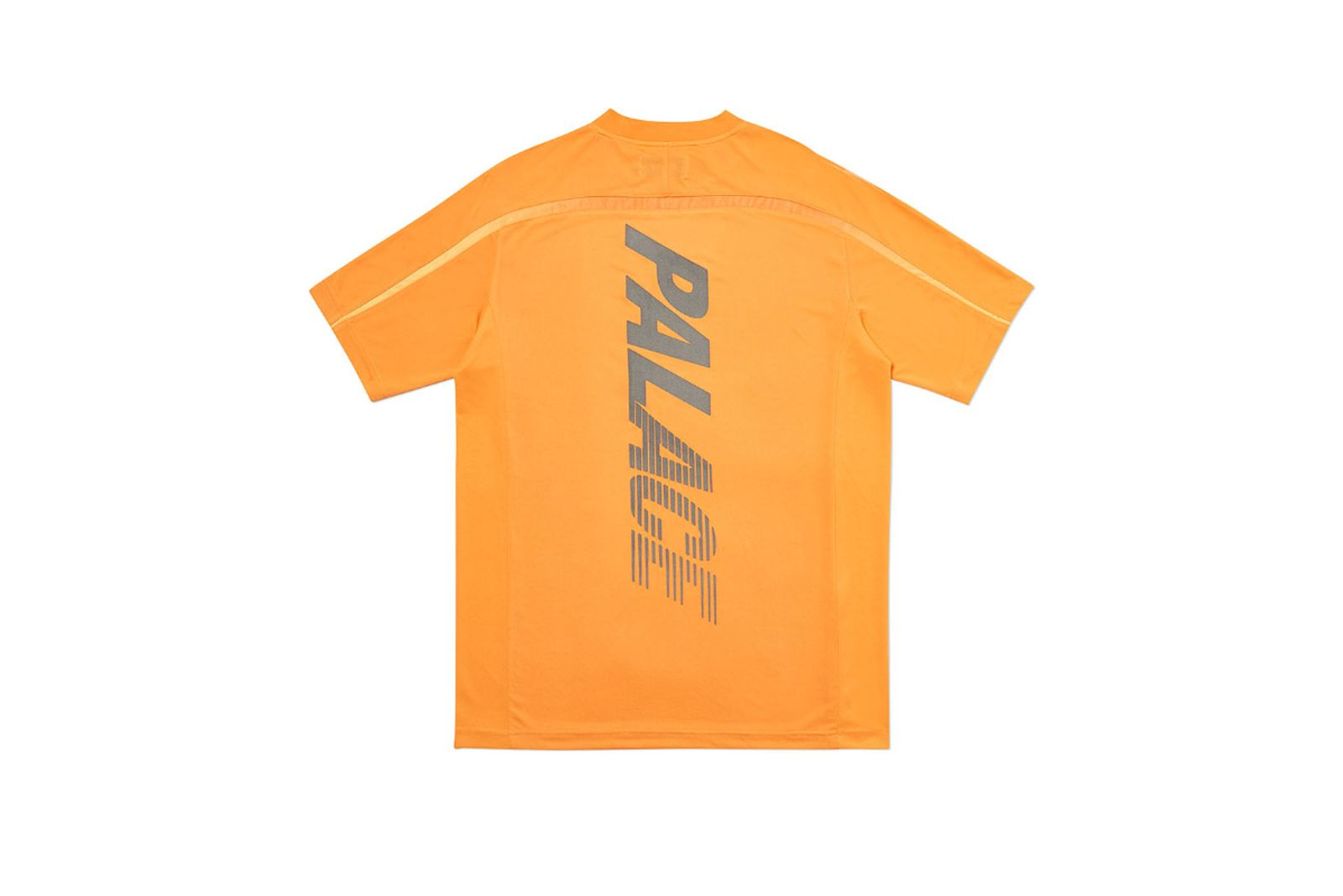 Palace 2019 Autumn T Shirt Stripe Logo orange back fw19