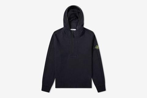 Garment Dyed Half Zip Hoodie