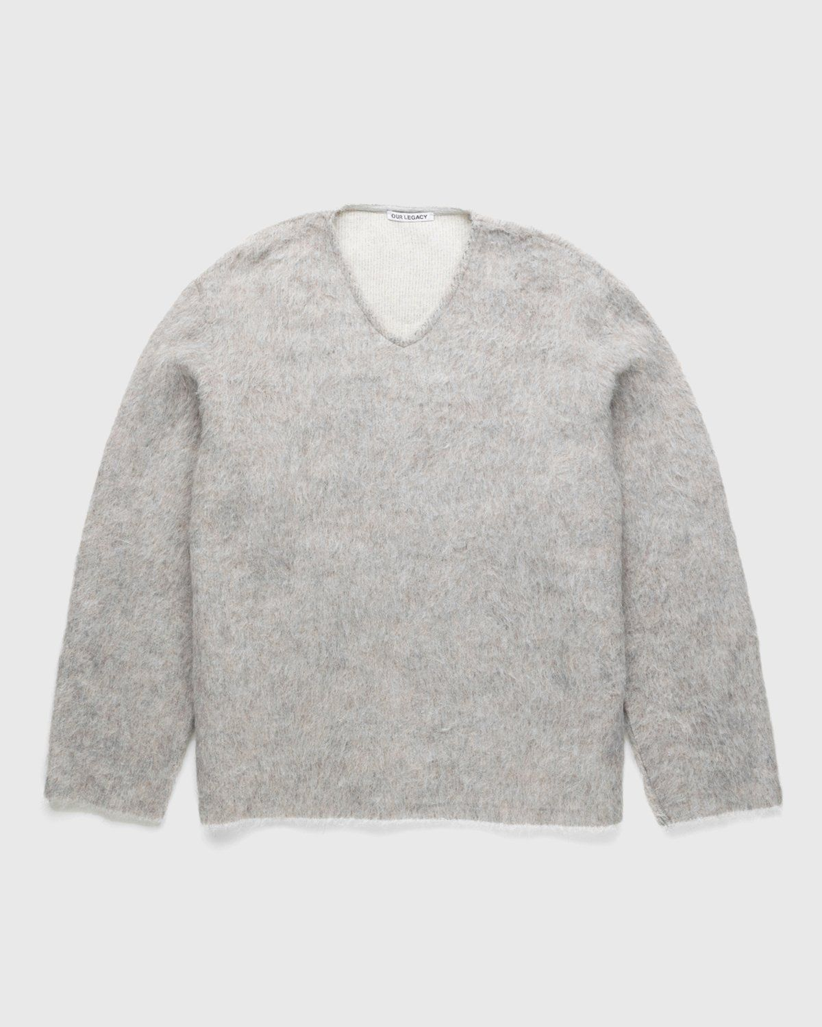 Our Legacy - Double Lock Sweater Grey Alpaca - Image 1
