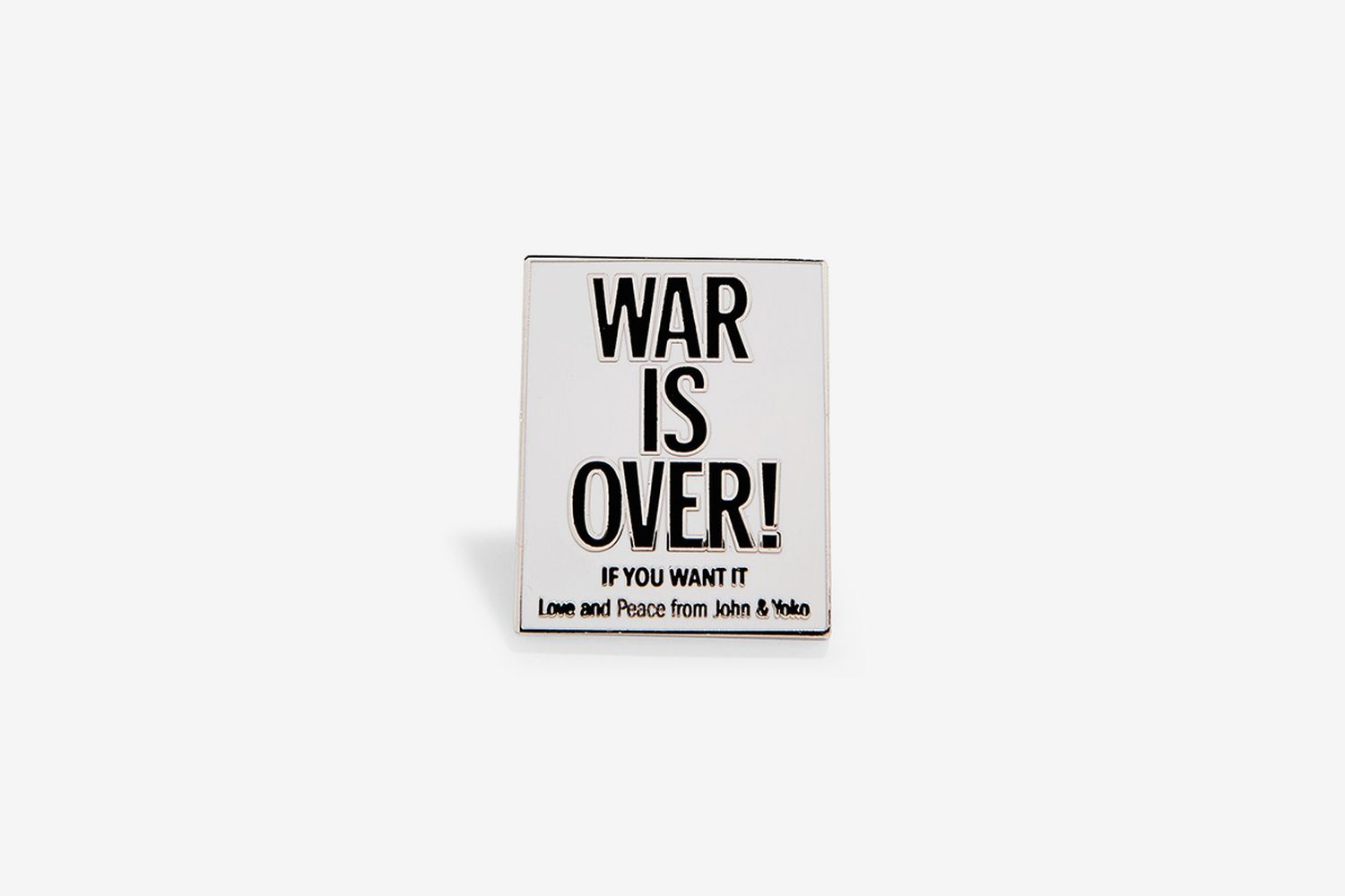 Yoko Ono and John Lennon: War is Over! Enamel Pin