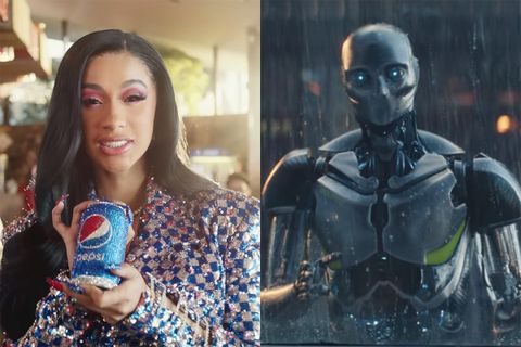 super bowl liii commercials Cardi B coca cola pepsi