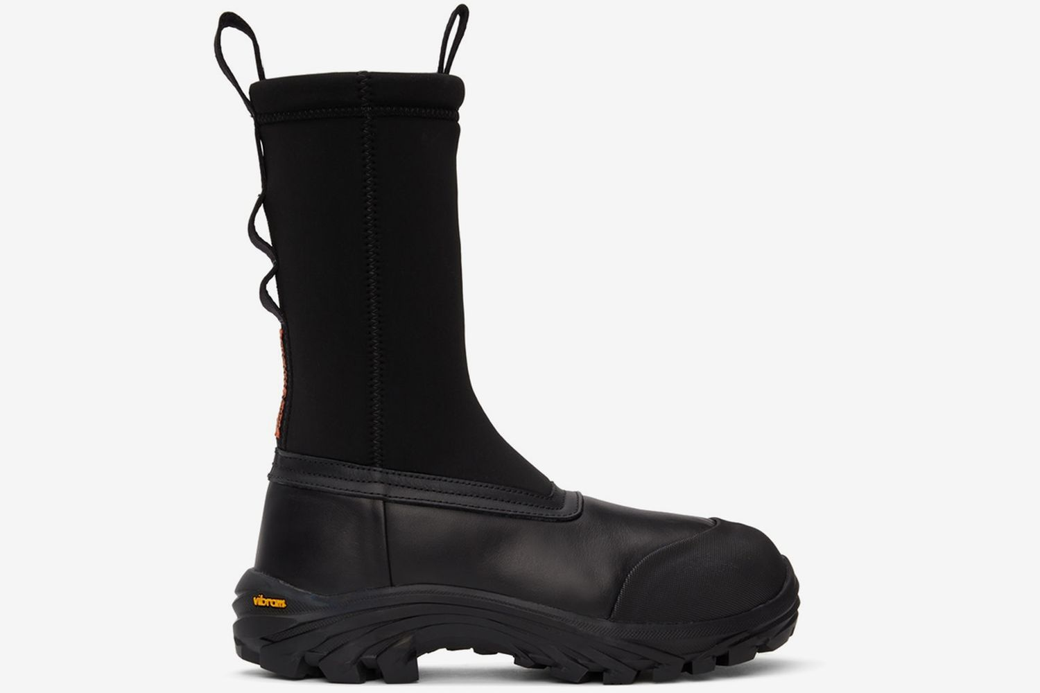 Leather Security Sock Boots
