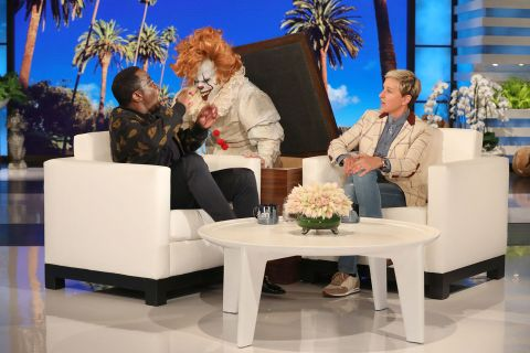 Phenomenal Ellen Degeneres Scaring Diddy With A Clown Is A Halloween Treat Ocoug Best Dining Table And Chair Ideas Images Ocougorg