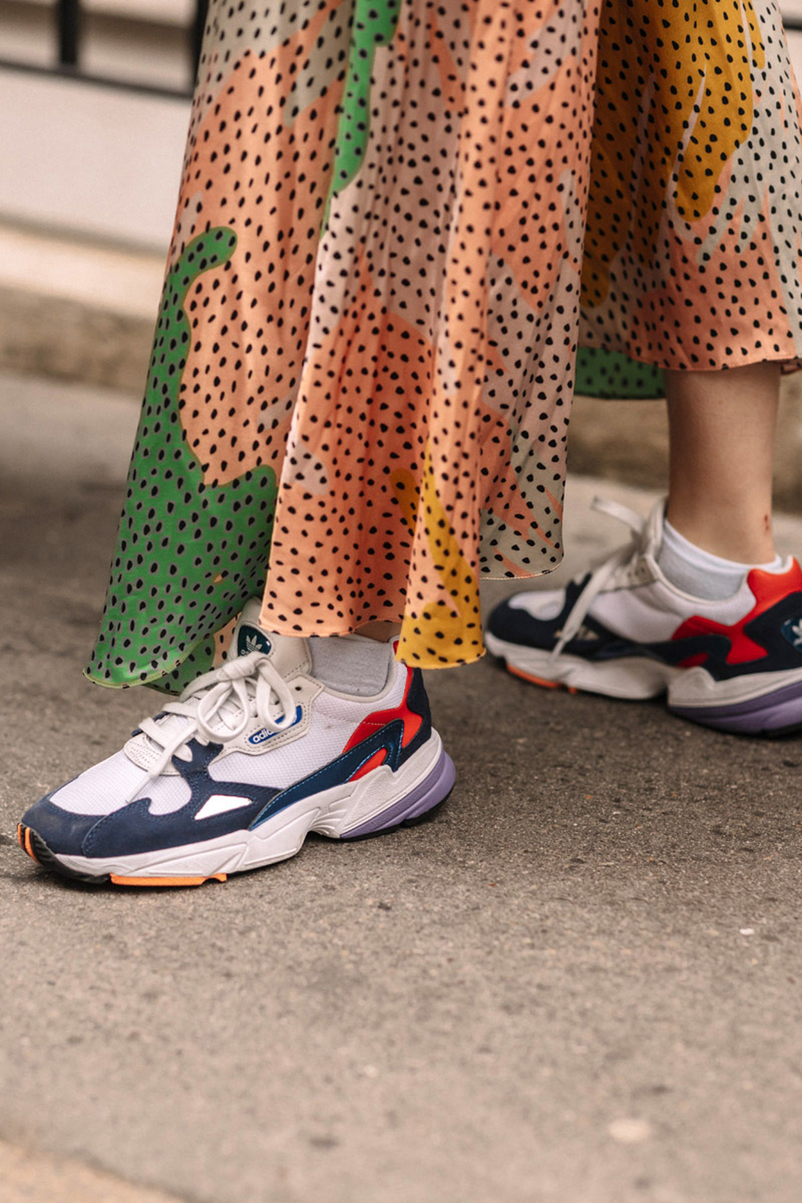 london womens fashion week fw19 sneaker street style Adidas Nike