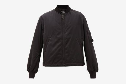Embroidered Back Bomber Jacket