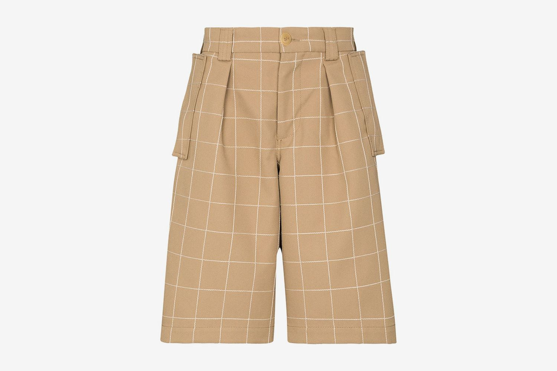 Quadri Check Bermuda Shorts