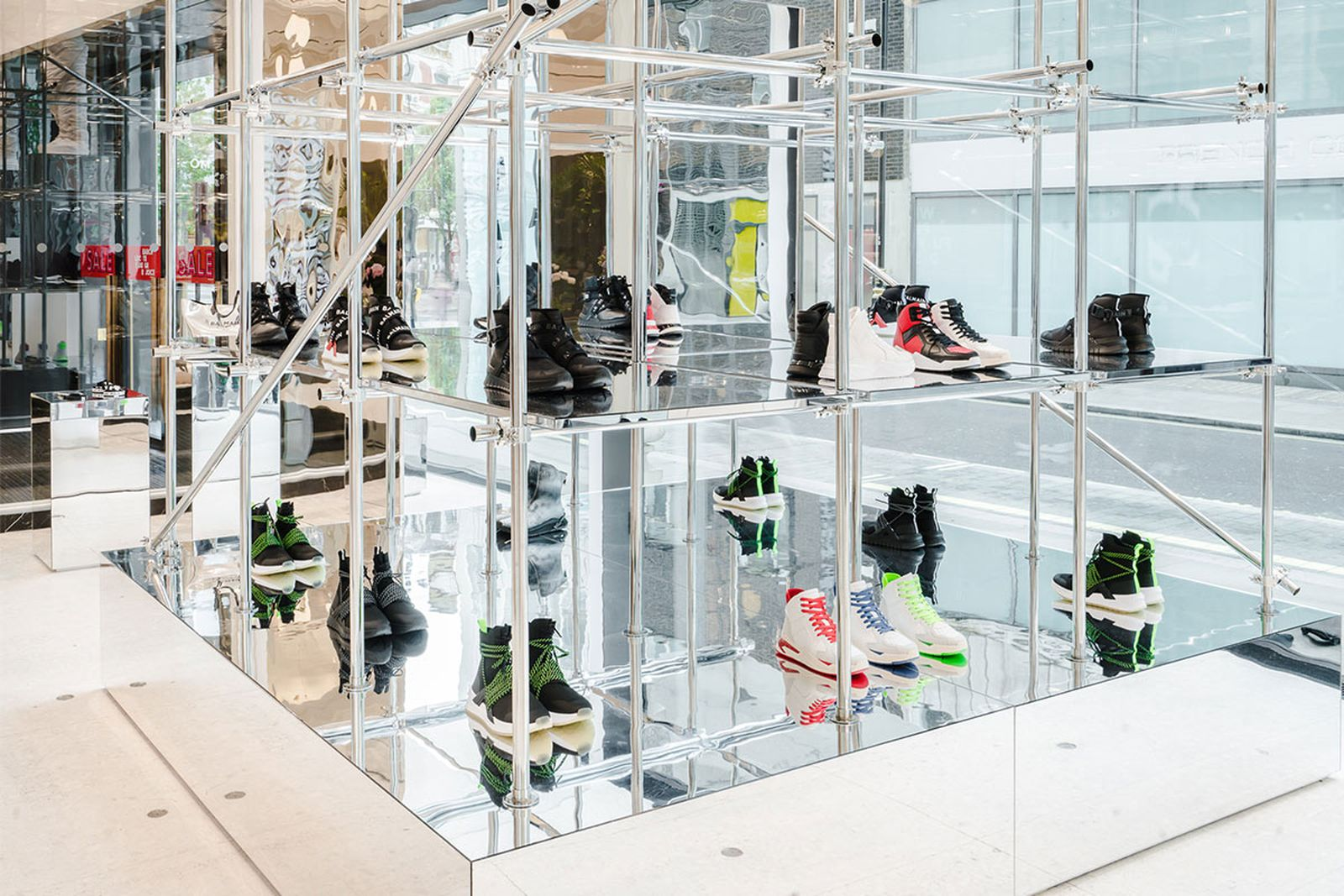 balmain selfridges london sneaker customization pop up