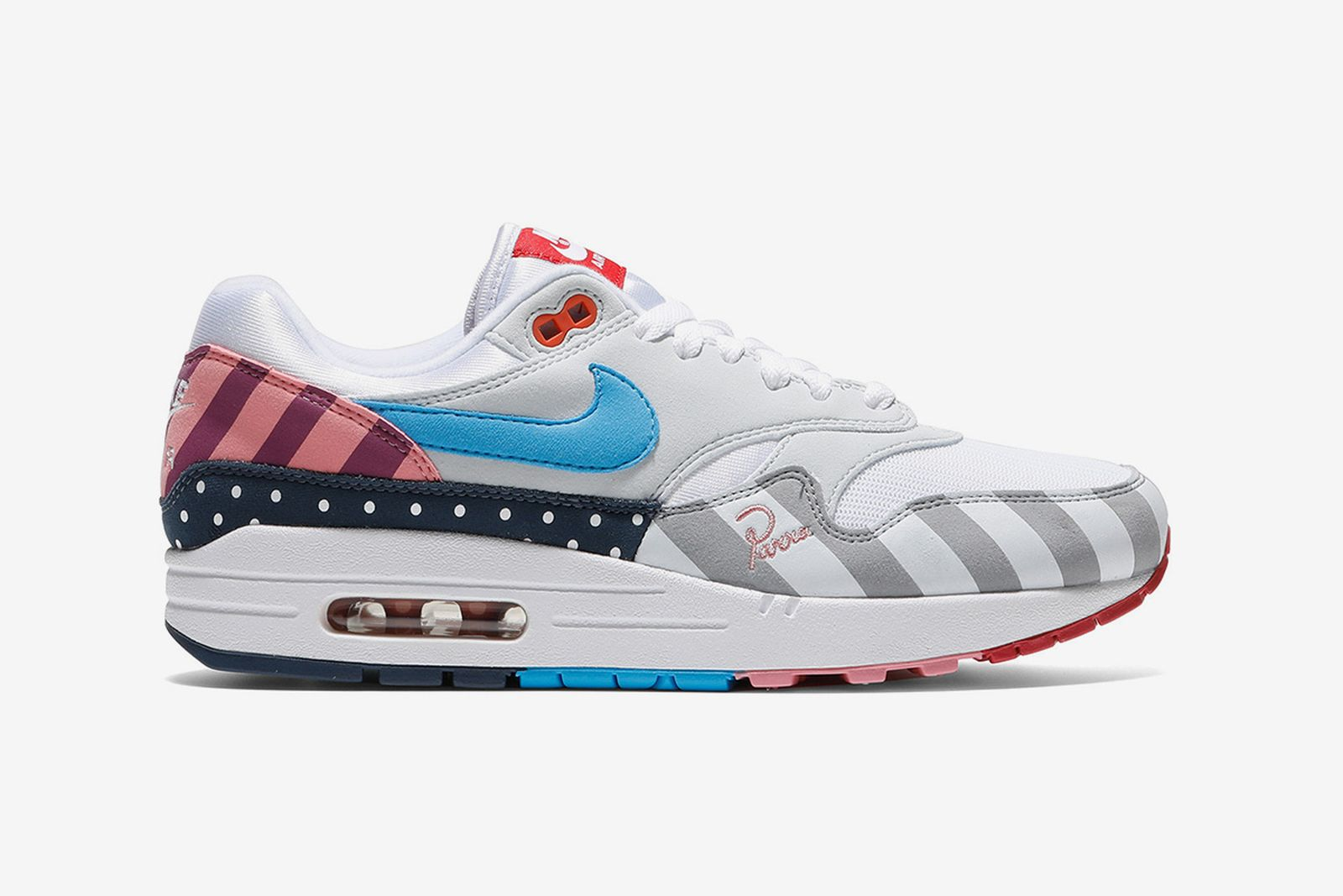 parra nike air max 1 patchwork release date price