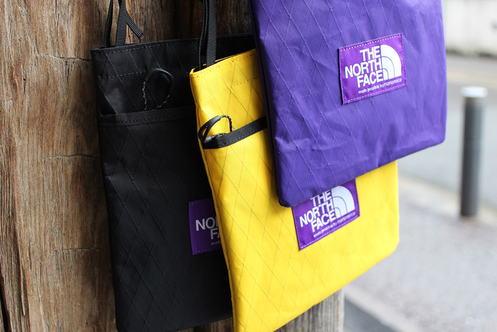 the north face purple label x pac bags
