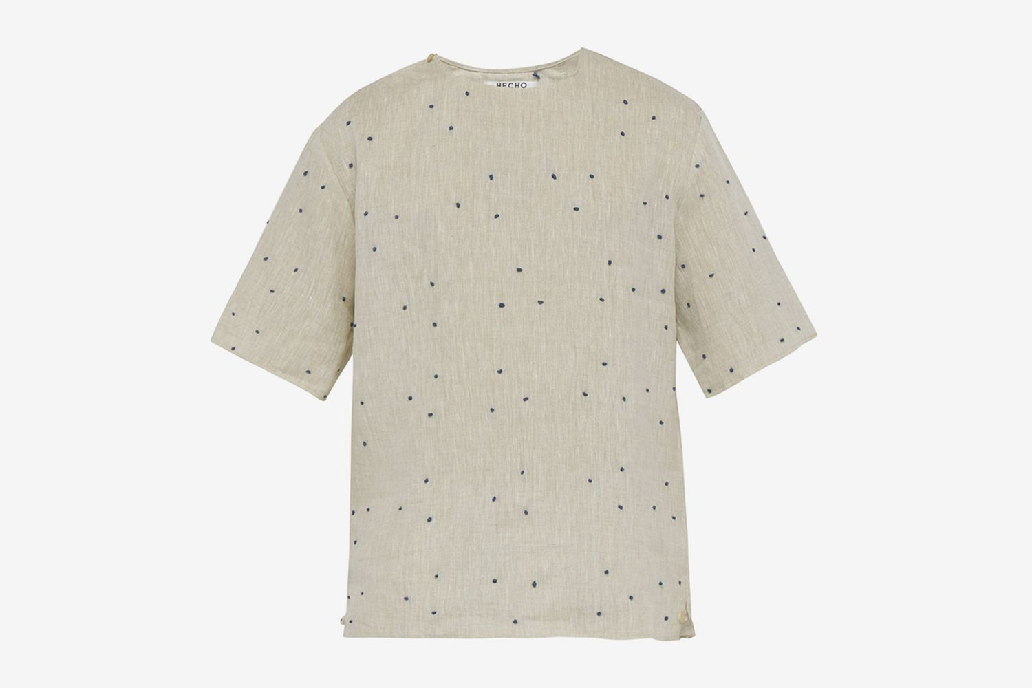Knot Embroidered Linen Top