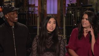 travis scott snl october promo video Awkwafina Cecily Strong saturday night live