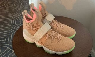 e1e14361215 LeBron James Spotted Wearing Nike Air Yeezy-Inspired LeBron 15. Selects  Sneakers