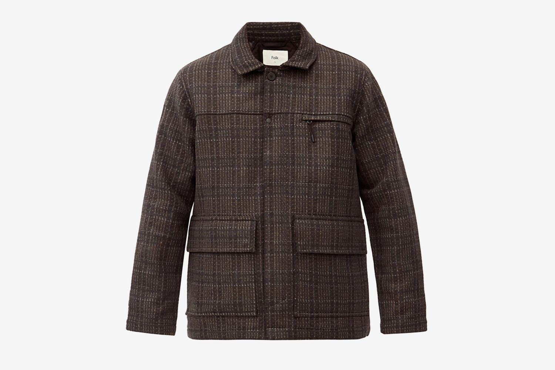 Alber Patch-Pocket Wool-Blend Jacket