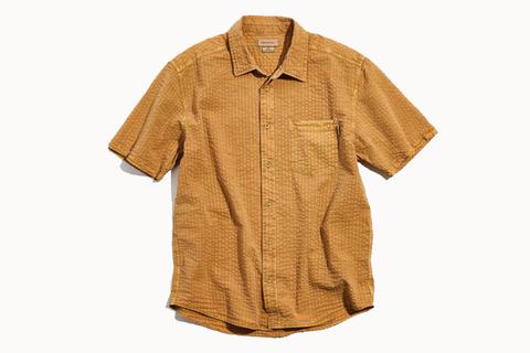 Woodgrain Seersucker Short Sleeve Shirt