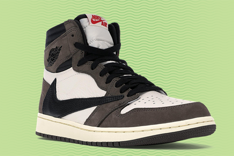 online store db595 583dd Cop Travis Scott's Backward Swoosh Air Jordan 1s for $1