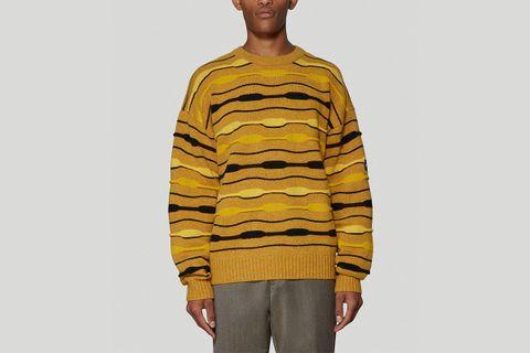 Striped Knit Sweatshirt