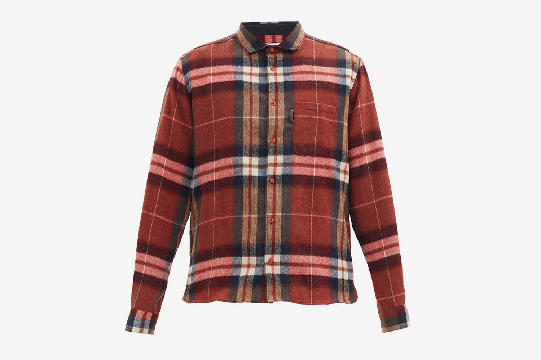 Curtis Check Wool-blend Flannel Shirt
