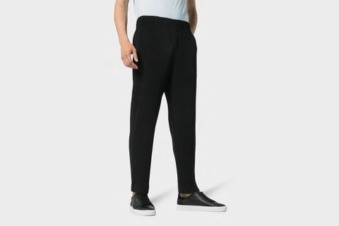 Pleated Crepe Trousers