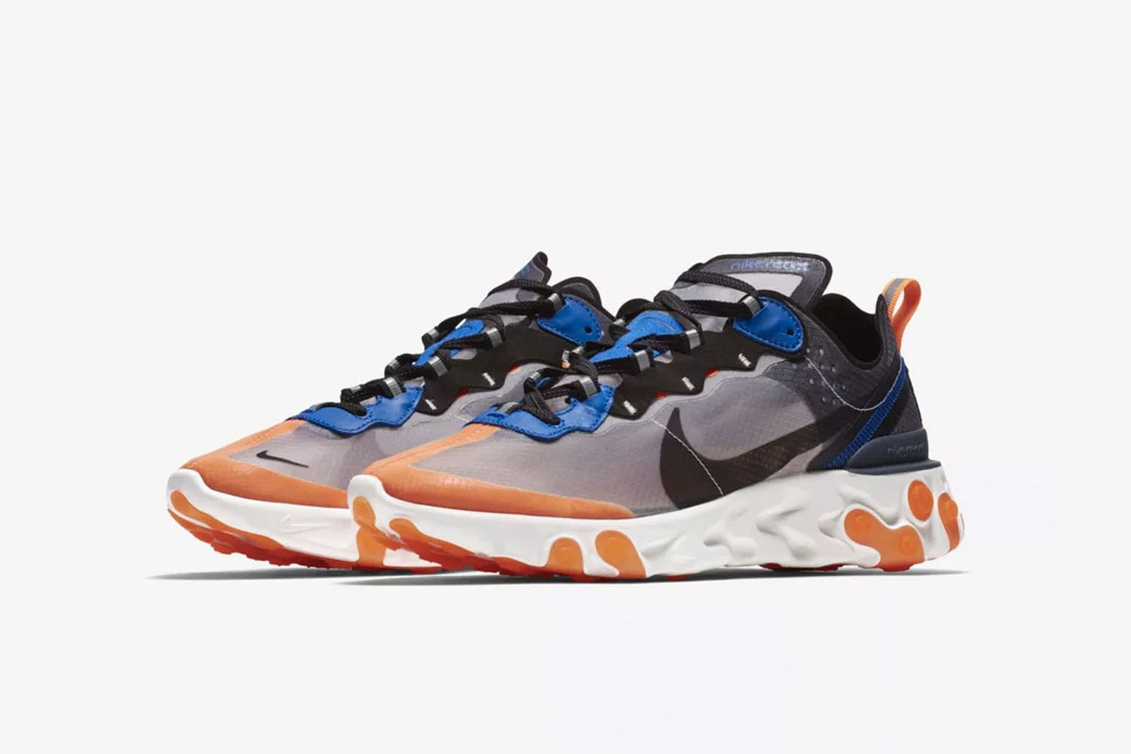 nike react element 87 release date price blue orange product