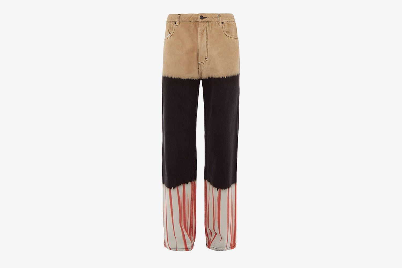 Tie Dye Wide Leg Jeans