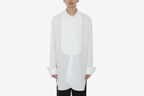 Oversized Tuxedo Poplin Shirt