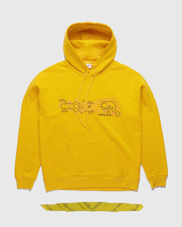 Highsnobiety x Keith Haring – Hoodie Yellow - Image 1