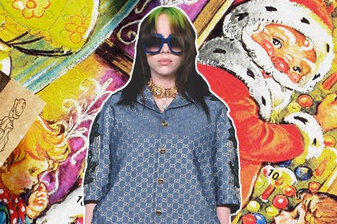 Billie Eilish Looks Extremely Unbothered in Custom Gucci Pajamas