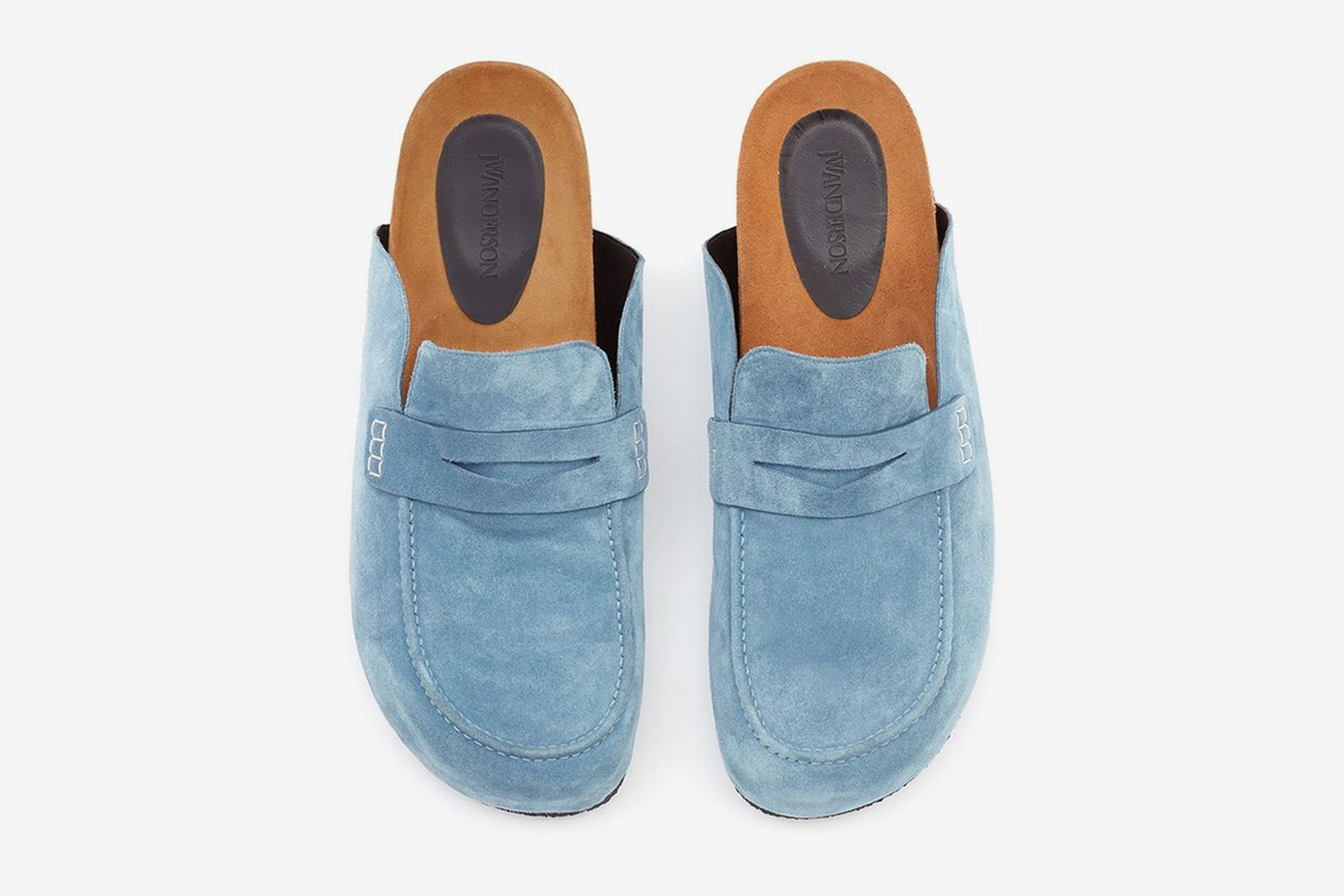 Suede Loafer Mules