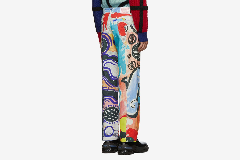 Multicolor Art Jeans
