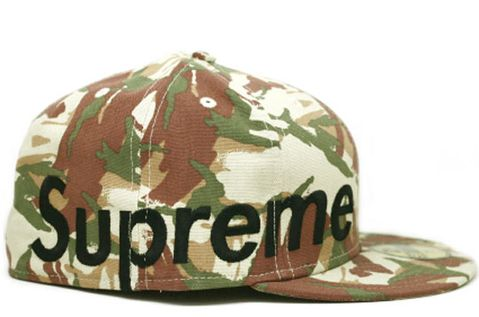 0a53c46ae85 Once again they use the popular Camo pattern and added the large size side  logo to it. The cap is available in three colorways in Supreme stores now.