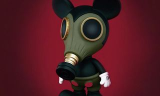 """Made by Monsters x Ron English """"Militia Mousemask Murphy"""" Japan BlackBook Edition"""