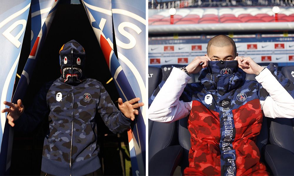 6399940d Here's an Closer Look at the Forthcoming BAPE x PSG Collaboration