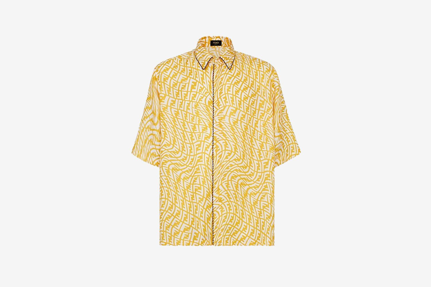Yellow Silk FF Shirt