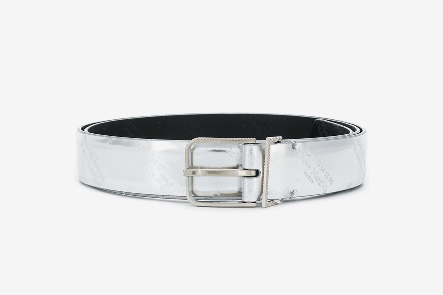 Metallic Logo-Embossed Belt
