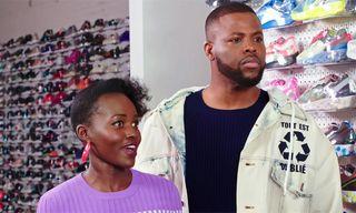 Lupita Nyong'o Talks Kung-Fu Kenny While 'Sneaker Shopping' With Winston Duke